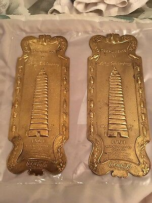 Coca Cola Company 1901 Vintage Advertising Embossed Brass Door Palm Push Plate