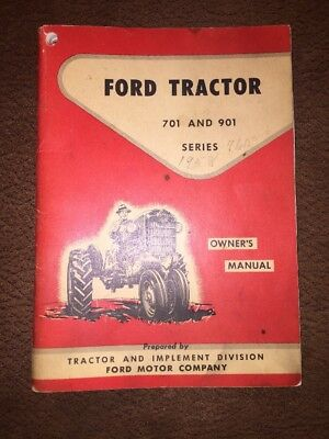 Ford 701 901 Series Owners Operators Manual Row Crop 741 771 941 971 981 Tractor