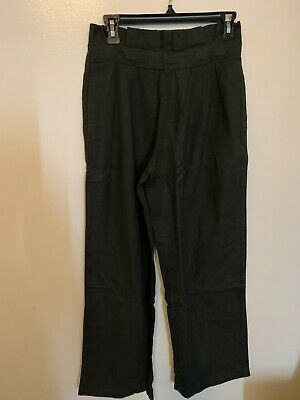 Black Crane Pleats Pants Forest Totokaelo La Garconne Size S NWT (PPT-08)