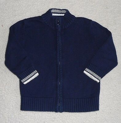 Boys Size 2T Sweater - Zippers Down - Navy - Hardly Worn - Very Nice Excellent