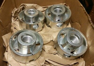 """(Lot Of 7) 4"""" Wood Lathe Chucks  threaded For 4 Jaws"""