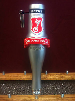 Beck's Beer Oktoberfest Bar Keg Tap Handle Marker - Becks - New & Free Shipping