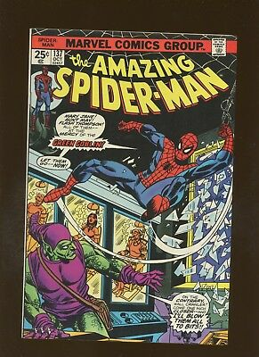 Amazing Spider-Man 137 VF 7.5 * 1 Book Lot * Goblin Strikes by Conway & Andru!