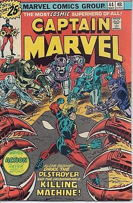 Marvel Comics Group - Captain Marvel - May 1976 - Number 44 - See Photos & Info