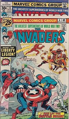 Marvel Comics Group - The Invaders - Numbers 6 & 14 - May 1976 & March 1977