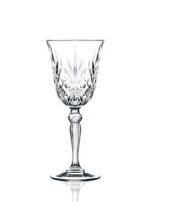 NEW RCR Crystal Melodia White Wine Glasses 210ml Set of 6
