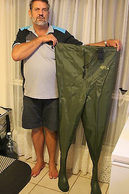 SIZE 14 FISHING WADERS CHEST  NYLON/PVC WADERS LUD SOLE BOOT B0114-n