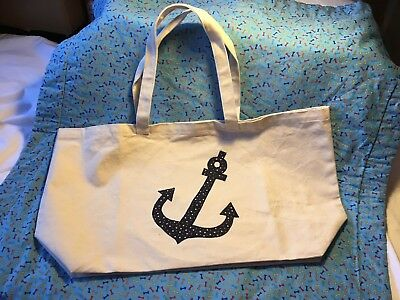 Canvas Anchor Stitching Star Material Beach Tote Sailing