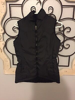 Womens Black North Face Reversible Vest Size S Small