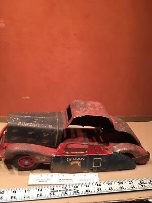 Vintage G-Man Pursuit Parts Toy Tin Car