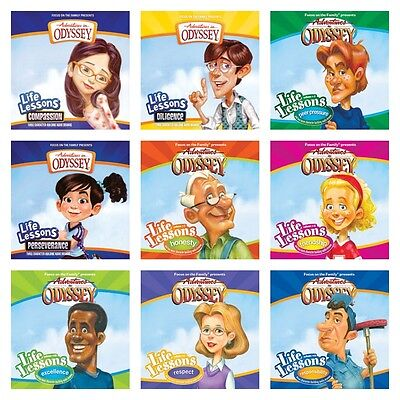 NEW Life Lessons Adventures in Odyssey Set of 9 CD Respect Compassion Honesty