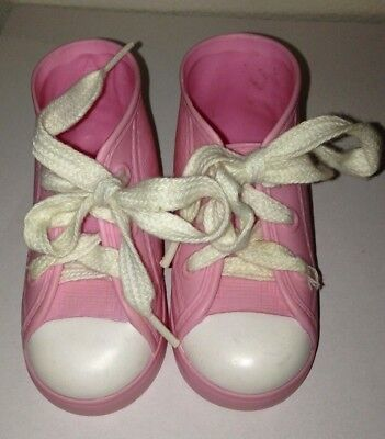 Vintage Cabbage Patch Kids Doll Pink Lace Up Shoes