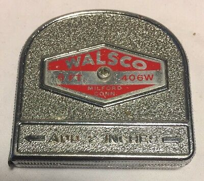Vintage Walsco 6ft Tape Measure 406W Made in the USA