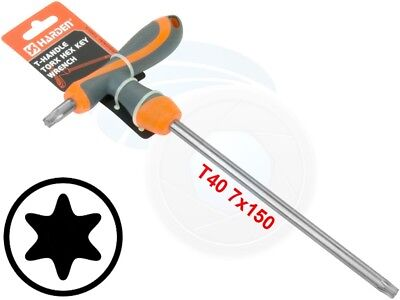T40 T-Handle Torx Torque 6 Point Star Key CRV TPR Screwdriver Wrench
