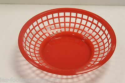 LOT OF 12 Plastic ROUND FOOD BASKET Fast Food French Fry Sandwich NEW - 3 colors