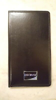 Pack / LOT of 10 DISCOVER CARD BILL PRESENTERS Waiter - Dual Fold - CHECK BOOK