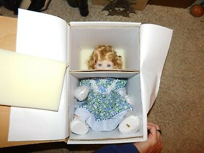 Marie Osmond SAUNDRA Porcelain Doll Original Box All Papers NEVER DISPLAYED MIB