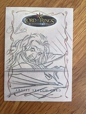 Topps The Lord of the Rings 1/1 Sketch Card Gandalf by William O`Neill  LOTR
