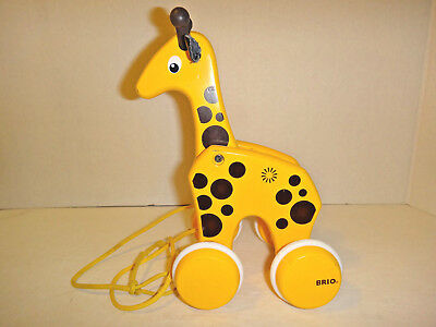 BRIO Pull Along Giraffe - Classic Solid Wooden Toy