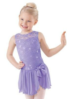 Purple Dress with built in leotard - Child extra small - size 4 - dance costume