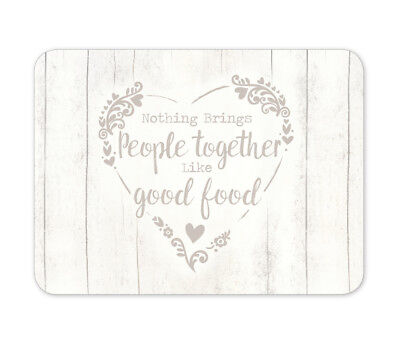 Cooksmart Food for Thought Placemats Pack of 4 Tableware Dining Kitchen Hearts