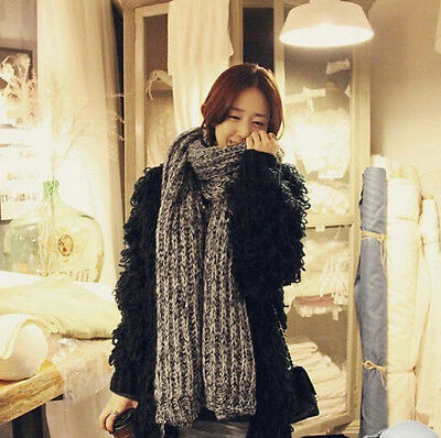 Classic Cable Knitted Premium Winter Warm Large Scarf Warp for Women Girls Lady