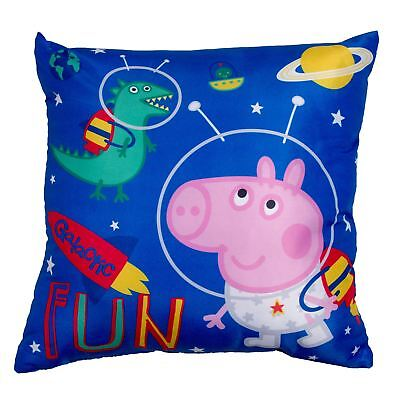 Peppa Pig George Planets Reversible Cushion Kids Bedroom