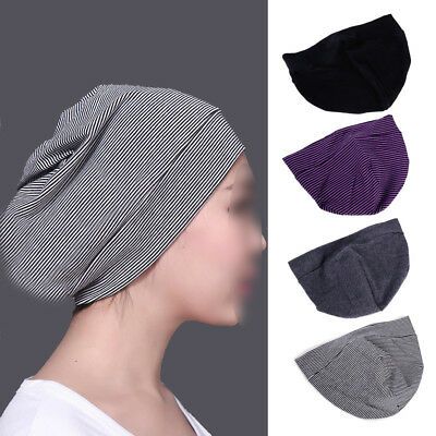 Soft Unisex Solid Cotton Nightcap Comfortable Sleep Head Cap Hat Adult Men Women