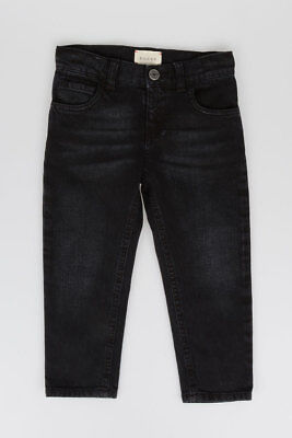 GUCCI New child Boy KIDS Cotton BLACK Pants JEANS Made in Italy NWT