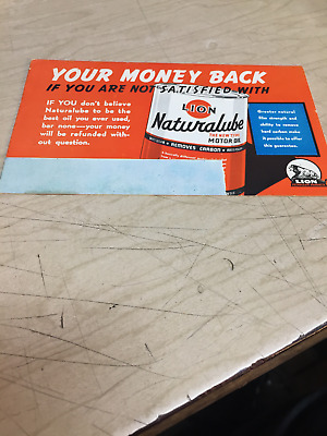 Vintage Lion Oil Refining Company Ink Blotter  Lion Naturalube The New Type Oil