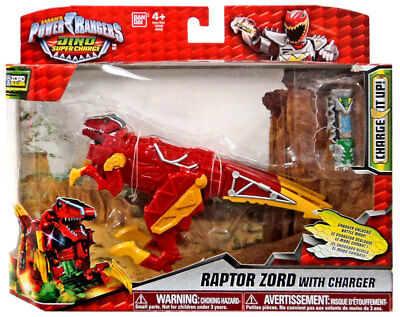 Power Rangers Dino Super Charge Raptor Zord Action Figure With Charger
