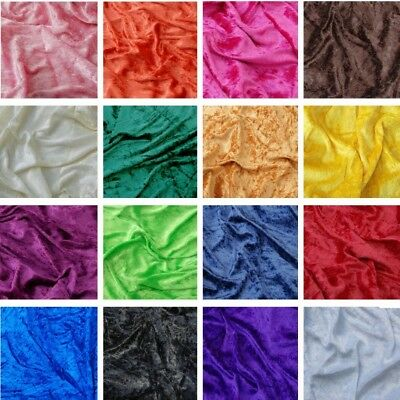 Crushed Velour Velvet Fabric Stretch Velour Material 150cm Width