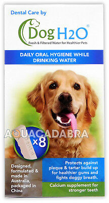 Dog H2O Dental Care Tablets with Calcium Supplement for Healthy Teeth & Breath