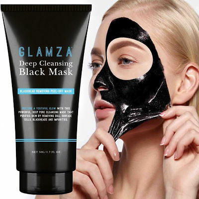 Glamza 50gm Charcoal Blackhead Remover Peel Off Facial Cleaning Black Face Mask