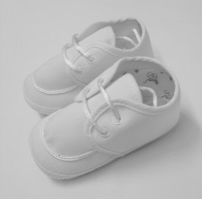 Little Things Mean A Lot Christening Baptism Shoe White Size 4 NIB