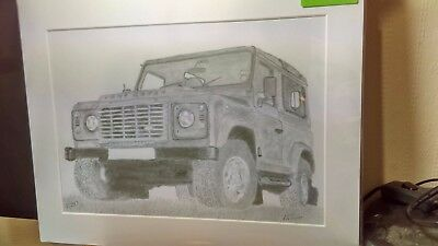 Graphite Drawing Land Rover Defender Limited Edition Print