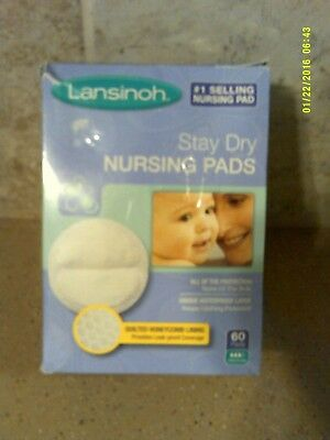 Lansinoh Stay Dry Disposable Nursing Pads 60 Count