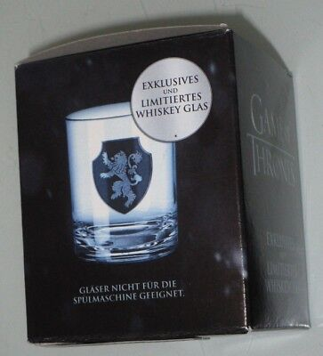 Game of thrones Whiskeyglas Whisky Glas limitiert Lannister NEU OVP