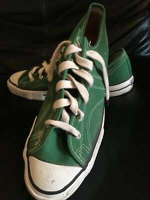 VINTAGE SEARS JEEPERS GREEN SNEAKERS MADE IN USA SIZE 9 1960s OR 1970S CONVERSE