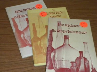 Antique Bottle Collector Books PB (3) by Grace Kendrick 1964-65-67