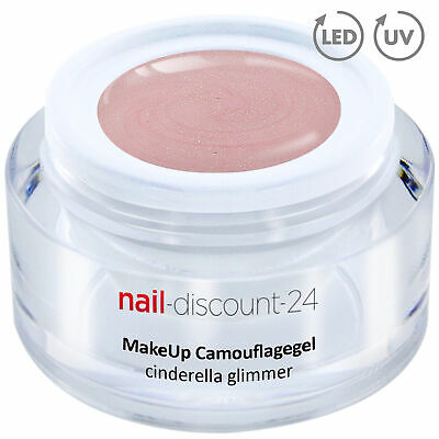 PremiumXL Camouflage UV Gel Make Up cinderella glimmer 15ml Aufbau Nagel Cover