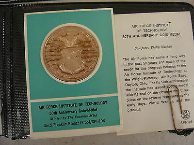 Franklin Mint sealed  proof coin medal, Airforce inst. tech. 108