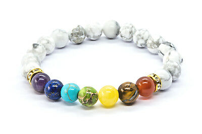 7 Chakra Bracelet. Christal Stones Healing Beads Jewellery. Natural Reiki gift