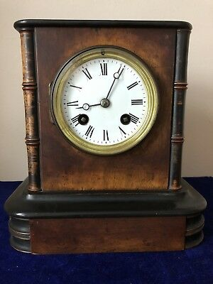 Antique French Mantle Clock A D Mougin Interesting Design With Side Columns