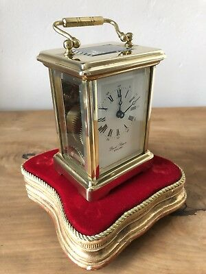 Vintage Carriage Clock David Peterson Made In England 8 Days