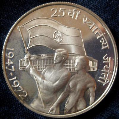 India Republic 1972 10 Rupees Proof 25 years independence #112