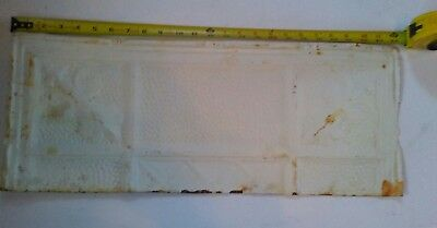 "24""x 9 1/2"" Antique Ceiling Tin Tile Reclaimed  Metal Vintage Cutoff Shabby Chic"