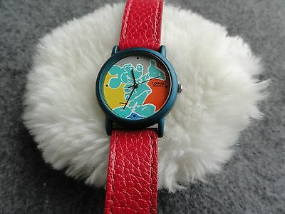 Disney's Mickey Mouse by Lorus Quartz Ladies Watch - Red Band
