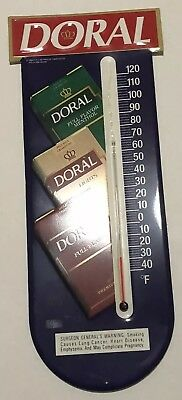 Doral Cigarettes Metal Sign Thermometer R.j. Reynolds Tobacco Co