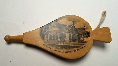Mauchline Ware Bellows Pin Cushion Norman Williams Library, Woodstock, Vt.